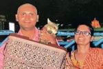 Photo Courtesy: Times of India / Babu and his family